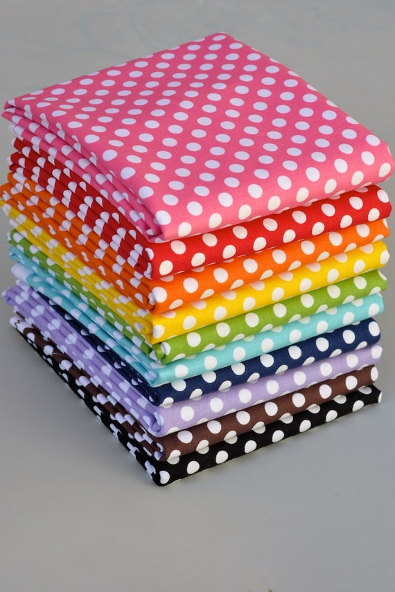 NEW Riley Blake House Designer Small Polka Dots 11 Fat Quarter Bundle