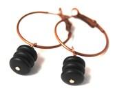 Halloween Dark Noir Antique Copper tone Earrings Dangle Fashion - LoveandCherish