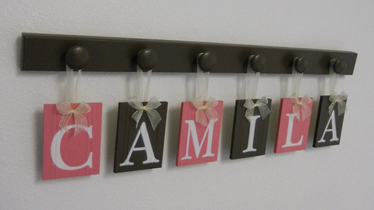 Baby room decorations letters photograph baby girl nursery for Baby name decoration ideas
