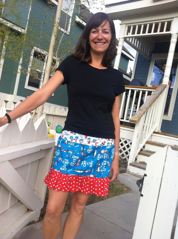 Dr. Seuss women's mommy teacher short skirt