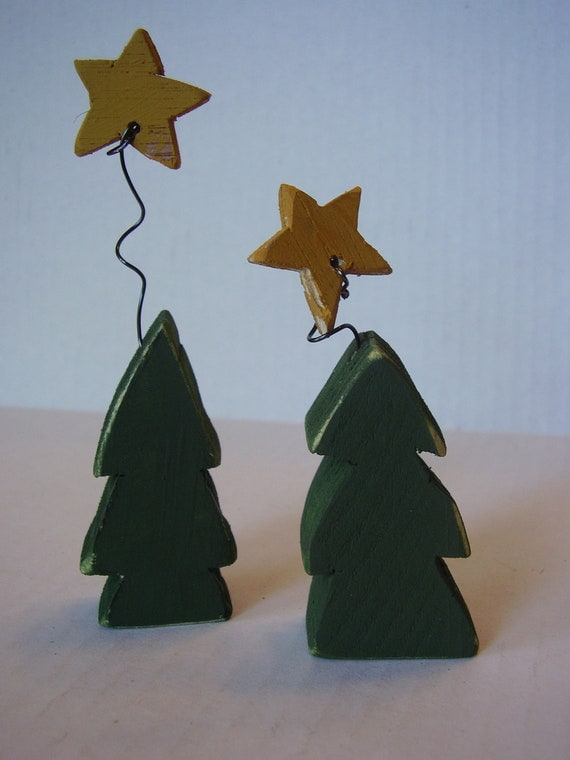 Two little wooden tree