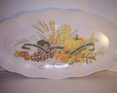 Vintage platter melmac melamine fall harvest autumn pumpkins serving display piece