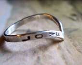 Grace RIng, Personalized in Sterling Silver