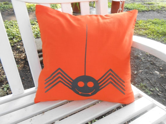 Spooky Spider, Accent Pillow, Halloween Decor for the Home, 16x16