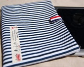 iPad Mini case ,Navy blue and white striped print case for your iPad Mini,Christmas gift, kindle cover - WorldDesigns