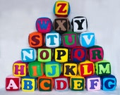 Felt ZOO alphabet, 26 alphabet cubes, felt blocks, zoo alphabet, letters, numbers, figures, shapes, abc, 123, MADE to ORDER - IrraNellie