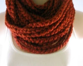 Free US Shipping: Rust Wool Blend Infinity Scarf