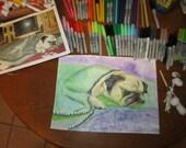 Bristol board/Heavy paper  Medium 002 Original mixed media art of your pet