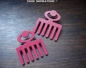 Duafe Wooden Comb Earrings