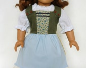 Forest Green Medieval Peasant Hobbit American Girl 18 inch Doll Outfit