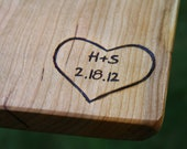 Personalized Engravings - Personalization for our Cutting Boards, Wine Racks & Tables - rusticcraftdesign