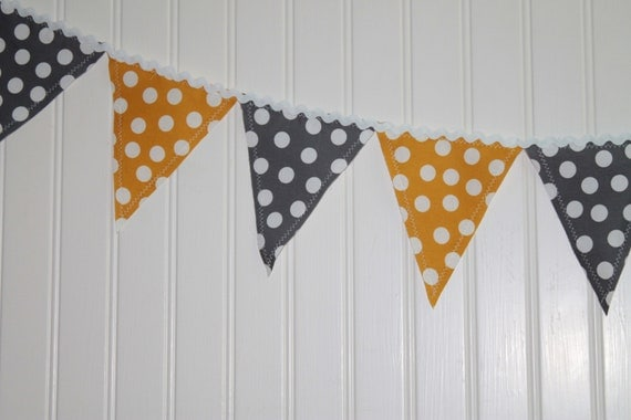 Yellow and Grey Chevron banner
