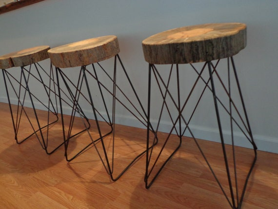 Live Edge Cats Cradle Barstool