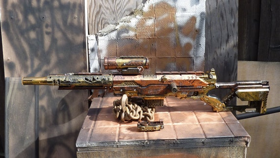 Steampunk Sniper Rifle Nerf Gun LONGSTRIKE with Scope