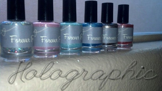 Set of 6 Holographic Franken polish.