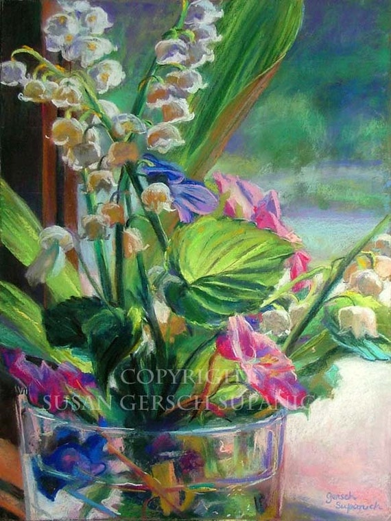 """Art Print  """"For Momma"""" colorful floral painting 11 x 14 print of flowers -  Susan Gersch Supanich"""