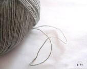 Alpaca yarn - light grey - Laceweight yarn - 2-3ply - crochet thread - PerfectYarn