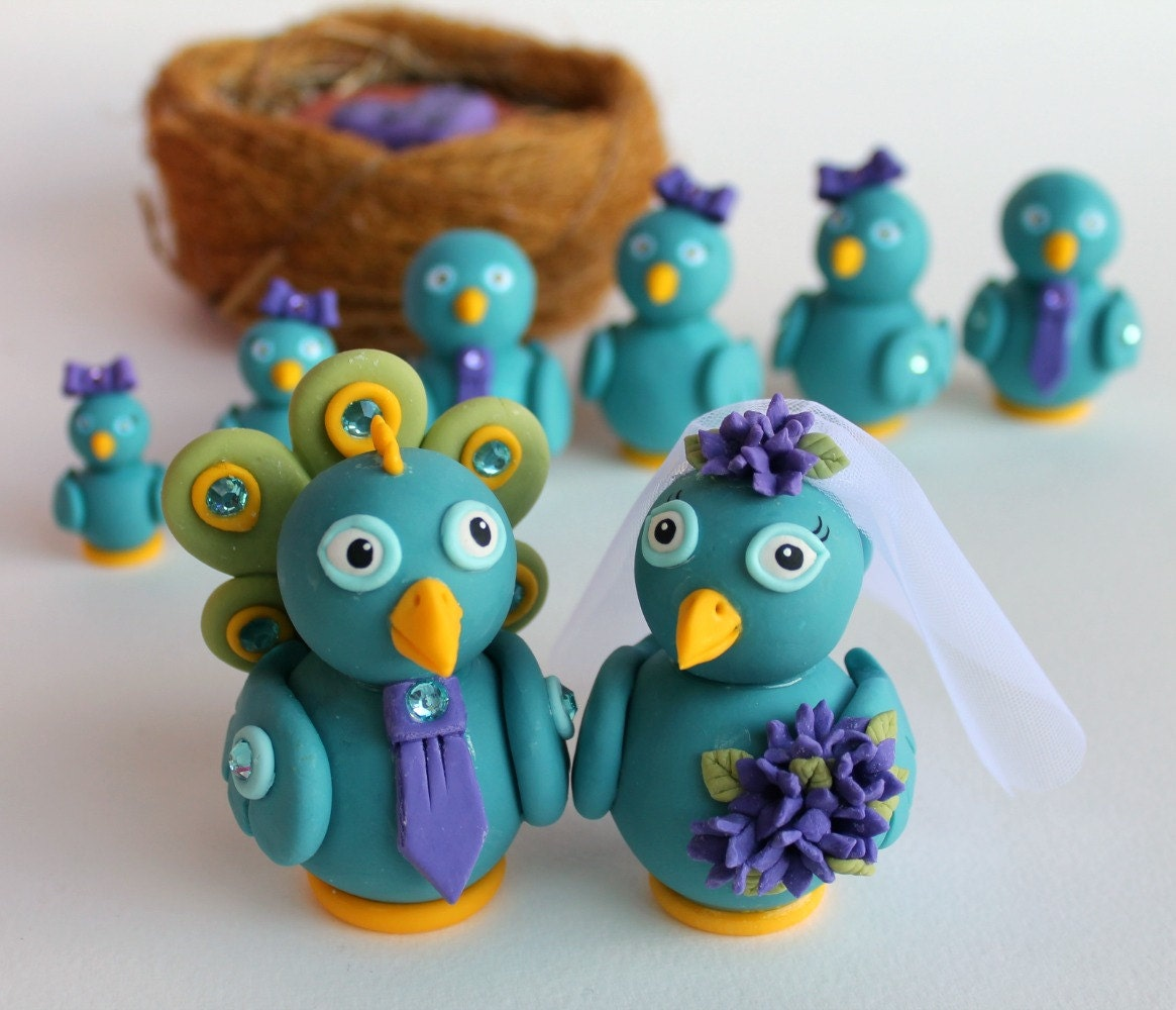 peacock wedding cake toppers