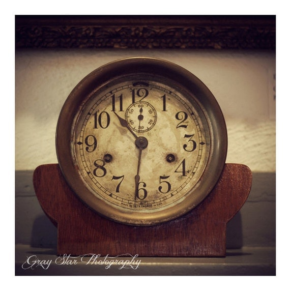 Antique Clock on Mantle