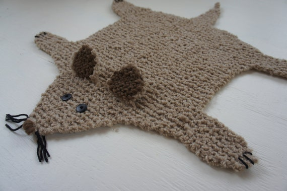 Flat rat rug/ blanket/ cat bed