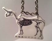 Magic Unicorn Skeleton Necklace