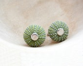 Sea Urchin Cufflinks - Green - StaroftheEast