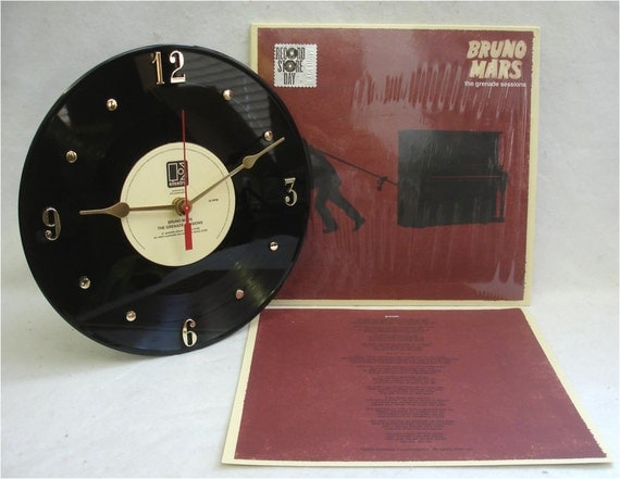The Grenade Sessions Vinyl Clock