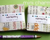 2 MINI charm pack NOTEWORTHY Moda Fabric by Sweetwater