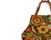 Fall Floral Print Fat Bottom Handbag Brown Orange Yellow - SadiesSnippets