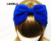 Lovely BOW Turban headband in Royal Blue