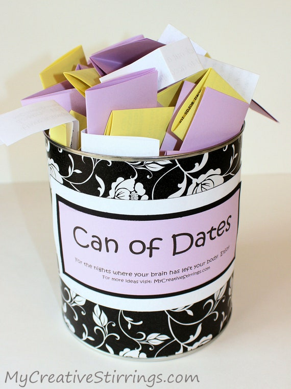 Can of Dates, add your own food option