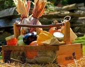 Unique Fruit & Vegetable Garden Harvesting Basket Handcrafted in NC - Medium Size