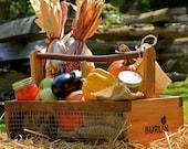 Unique Fruit & Vegetable Garden Harvesting Basket Handcrafted in NC - Medium Size
