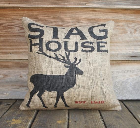 Deer Burlap Чехол, подушка, мягкая обивка, Крестьянская мебель, декор салона