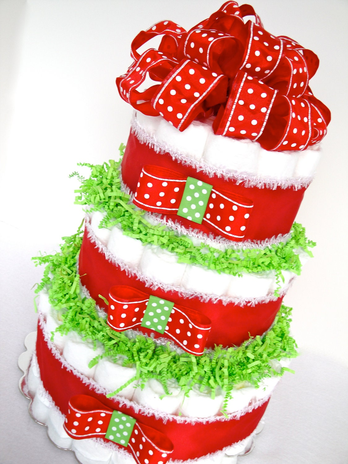 Christmas Diaper Cakes On Pinterest Diaper Cakes