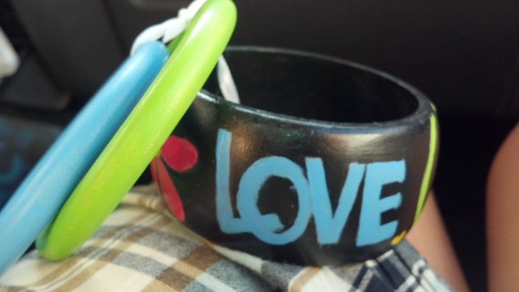 Peace Love Hope bangle set