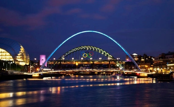 Olympic Rings over the River Tyne, Limited Edition (1 of 10)