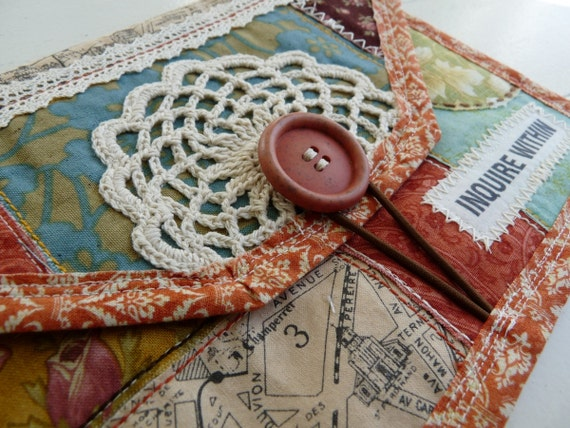 Handmade Kobo Touch Case, Kobo Touch Cover, Kobo Touch Sleeve (Doily Collage)