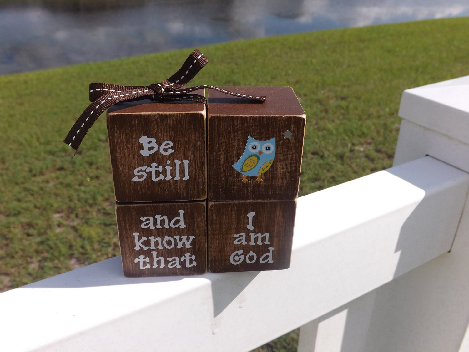 Christian Home Decor Be still and know by JirehCraftyCreations