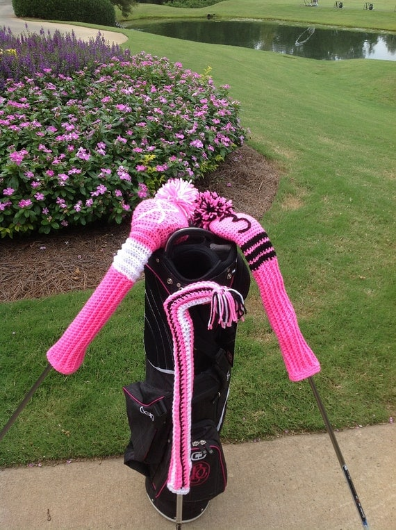golf club covers, hand made to order, custom design or order as shown