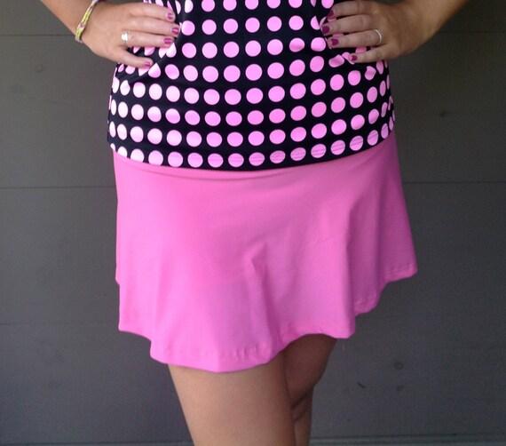 SALE Large Flattering Pink Tennis Skirt Running Skort