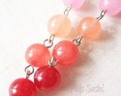 Breast Cancer Awareness - Passionfruit Candy Jade Earrings - Pink - Gifts Under 15.00 - pulpsushi