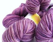 Purple 4ply wool, fingering, sock, hand dyed superwash merino wool, Perran Yarns, 100gram Buddleia, knitting crochet - SixSkeins