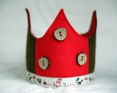 SALE Wool Felt Crown - Little Red Riding Hood