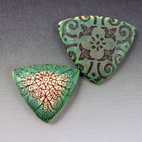 Triangle Porcelain Cabochons