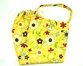 Grocery Bag Holder Hostess Gift Kitchen Floral Yellow Petite Flowers Holdays Gift Idea Plastic Bag Holder Storage Reusable Fun Colorful - ComfyCreations
