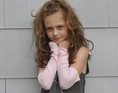 stocking stuffer girls organic cotton arm warmers pink - betsybdesign