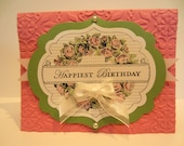 Handcrafted Embellished Birthday Card