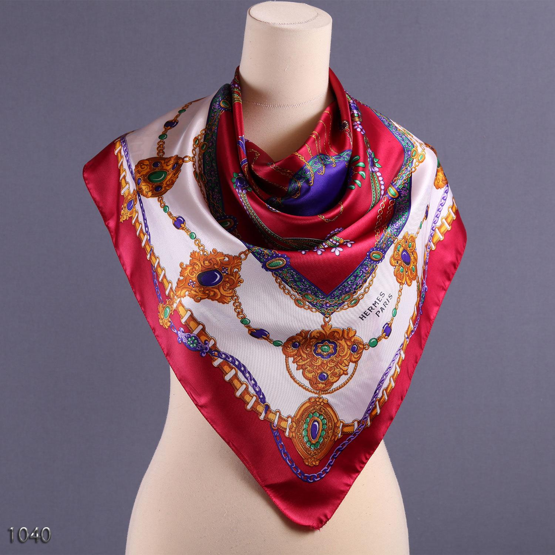 Vintage Faux Hermes Scarf  Royal Silk Scarf by BetaAccessories Vintage Hermes Silk Scarves