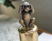 Hear No Evil Monkey Perfume Container - broochonmyback59